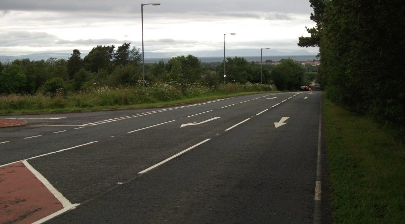 Looking Back Towards Ayr And The Mountains At Arran From